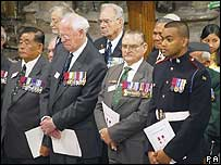 Rambahadur Limbu, John Alexander Cruickhank, Keith Payne and Private Johnson Beharry