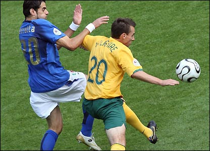 Simone Perrotta is challenged by Luke Wilkshire