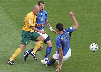 Marco Materazzi fouls Marco Bresciano