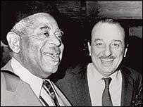 Arif Mardin (r) with Dizzy Gillespie