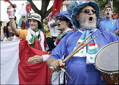 Italy fans in Kaiserslautern