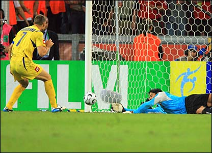 Shevchenko's first penalty is saved
