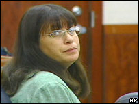 Andrea Yates in the courtroom in Houston, Texas on 26 June 2006