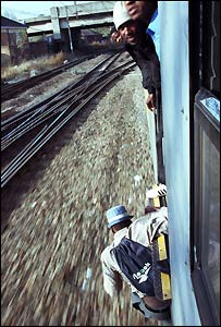 Train surfer (photo: Tebogo Letsie)