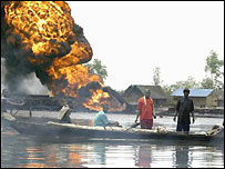 Attack by militants on Niger Delta oil installation