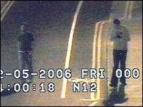 CCTV footage showing two men who may have seen Luke Durbin that night