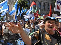 Mass protest against energy price rises in Kiev
