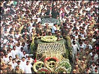 Rajiv Gandhi's funeral