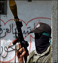 Palestinian supporter of Hamas militant organisation