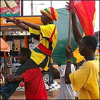 People celebrating in Kaneshi, Accra in Ghana [Pic: Stano]