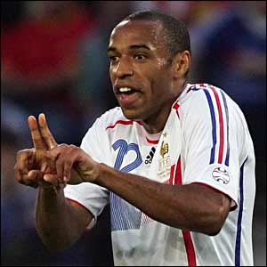 Thierry Henry remonstrates