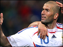 France captain Zinedine Zidane