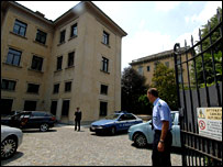 Police investigate at the Juventus club offices in Turin