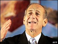 Primer ministro israelí, Ehud Olmert