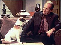 Moose with Frasier Crane (Kelsey Grammer)