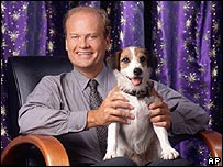 Moose with actor Kelsey Grammer