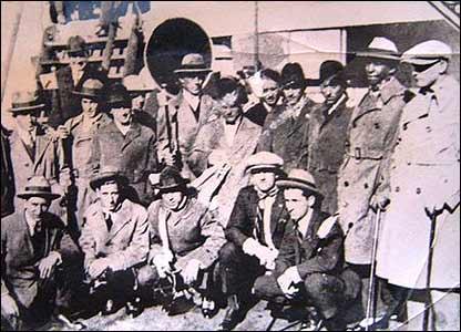 Equipo olímpico uruguayo antes del primer Mundial (Foto gentileza: Museo del Fútbol de Uruguay)