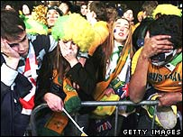 Australian fans in Sydney watch as their team loses