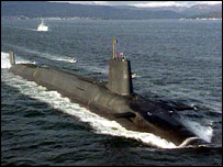 Trident nuclear submarine