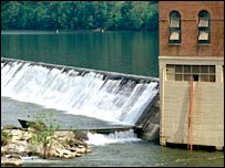 Hydro-electric dam.  Image: Eyewire