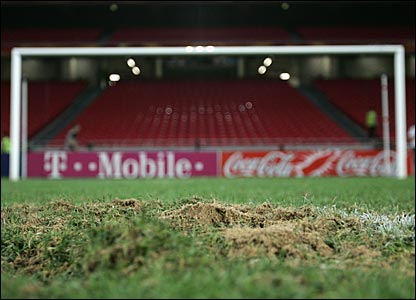 The scene of England's penalty shoot-out exit against Portugal at Euro 2004