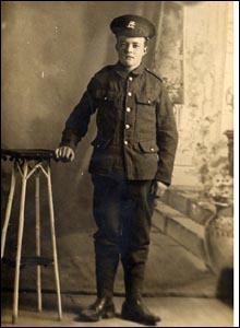 Arthur Revell, 19, of the 6th Battalion, East Kent