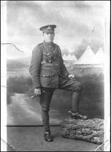 John Kirkwood, a gunner in the Royal Field Artillery