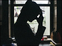 Woman in silhouette