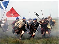 Battle of Culloden reconstruction for the BBC's Battlefield Britain