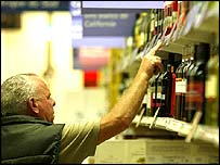Supermarket in Calais
