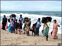 Sri Lankan refugees south of Madras