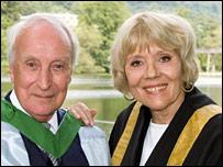 Ian Richardson and Diana Rigg