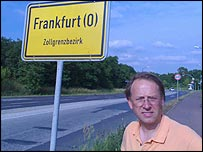 Michael in one of the Frankfurts