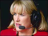 BBC commentator Tracy Austin