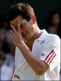 Tim Henman stares defeat in the face