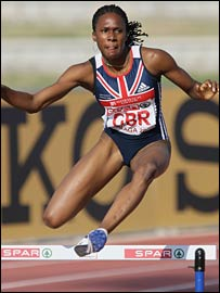 Natasha Danvers-Smith won the 400m for Britain in 55.65 seconds.