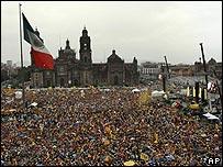 Asistentes al cierre de campaña de López Obrador en Ciudad de México