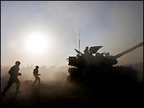 Tropas israelíes en el norte de la Franja de Gaza