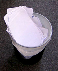 Waste paper bin (Image: Fulcrum Consulting)