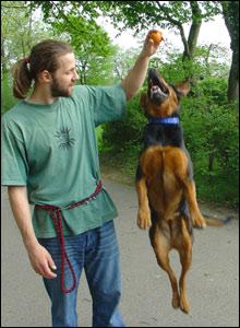 Lars and his dog Sita