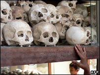 Skulls of victims of the Pol Pot regime