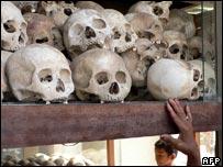 Skulls of victims of the Pol Pot regime