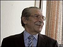 Ex presidente de facto guatemalteco Efra�n R�os Montt.