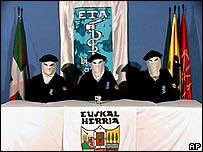Grupo armado separatista vasco ETA (Foto de Archivo)
