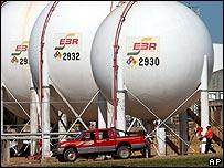 Instalación petrolera en Bolivia.