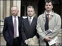 Giles Darby (left), David Bermingham (centre) and Gary Mulgrew (right)