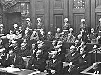 Nuremburg trials of Nazis, 1946