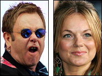 Elton John and Geri Halliwell