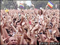 Crowd at Live 8, Hyde Park, London