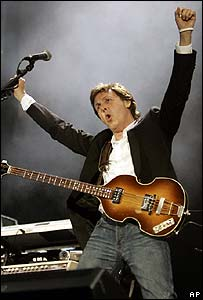 Sir Paul McCartney at Live 8, London